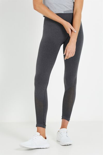 Coar Seamless 7/8 Tight, BLACK HEATHER
