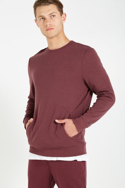 Coar Performance Double Knit Crew, FIG HEATHER