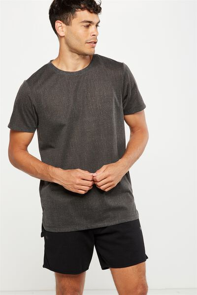 Coar Active Tee, BLACK