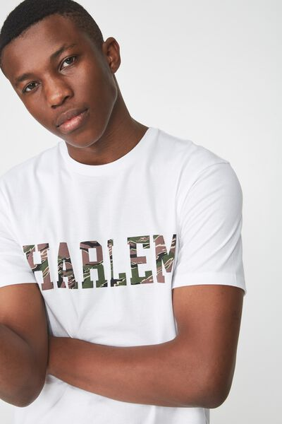 Active Graphic Tee, WHITE HARLEM/NYC LEOPARD PRINT