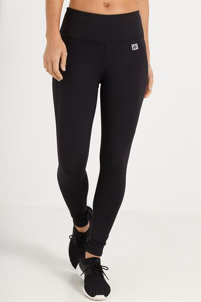 Coar High Waist 7/8 Fitness Tight, BLACK