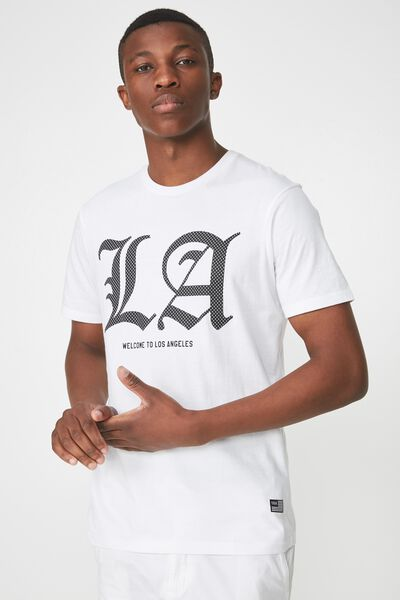 Active Graphic Tee, WHITE/WELCOME TO LOS ANGELES