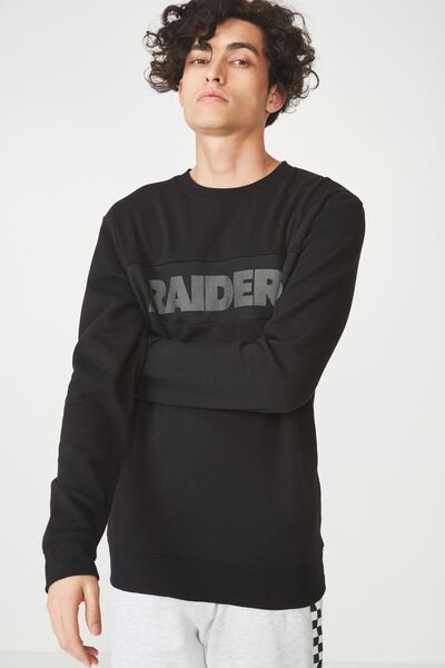 Active Crew Fleece, LC BLACK/RAIDERS