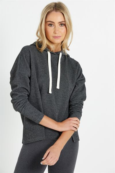 Coar Performance Crop Hoody, BLACK