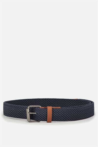 Hampton Plait Belt, NAVY