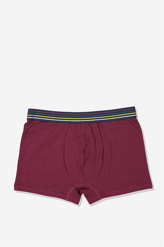 Single Hanging Trunks, BURGANDY/RAINBOW STRIPE