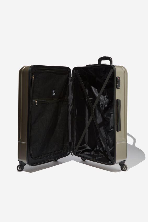 Lrg 28Inch Hard Suitcase, GREY METALLIC