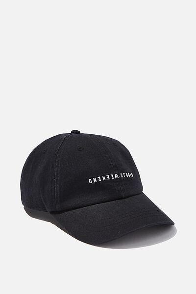 Strap Back Dad Hat, BLACK/WEEKEND STUDIO