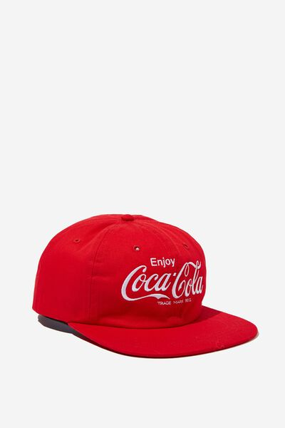 6 Panel Hat, LC WASHED RED/COCA COLA