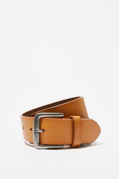 Leather Belt, TAN