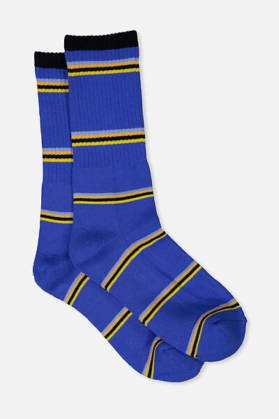 Single Pack Active Socks, ROYAL BLUE/SO CAL STRIPE