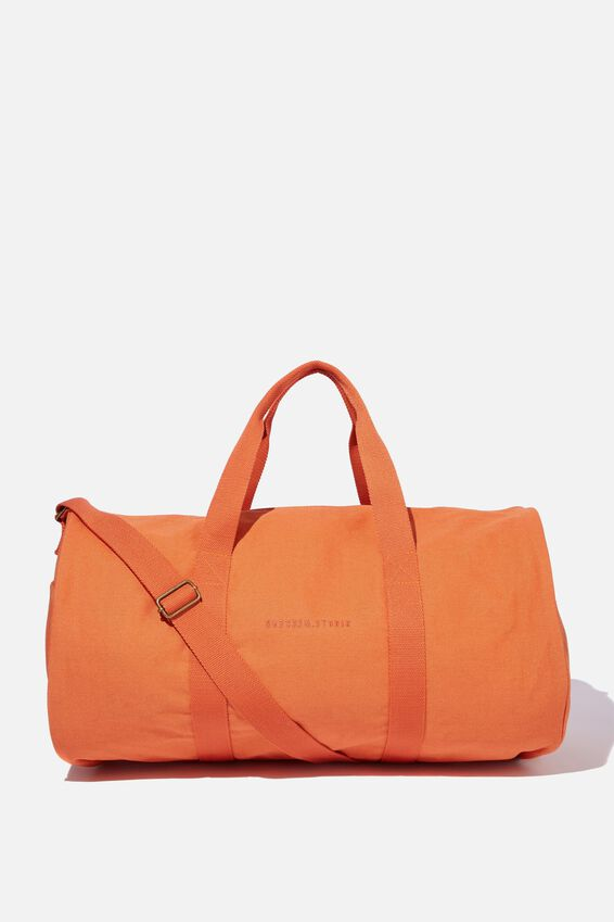 Brunswick Barrel Duffle, WASHED ORANGE CANVAS