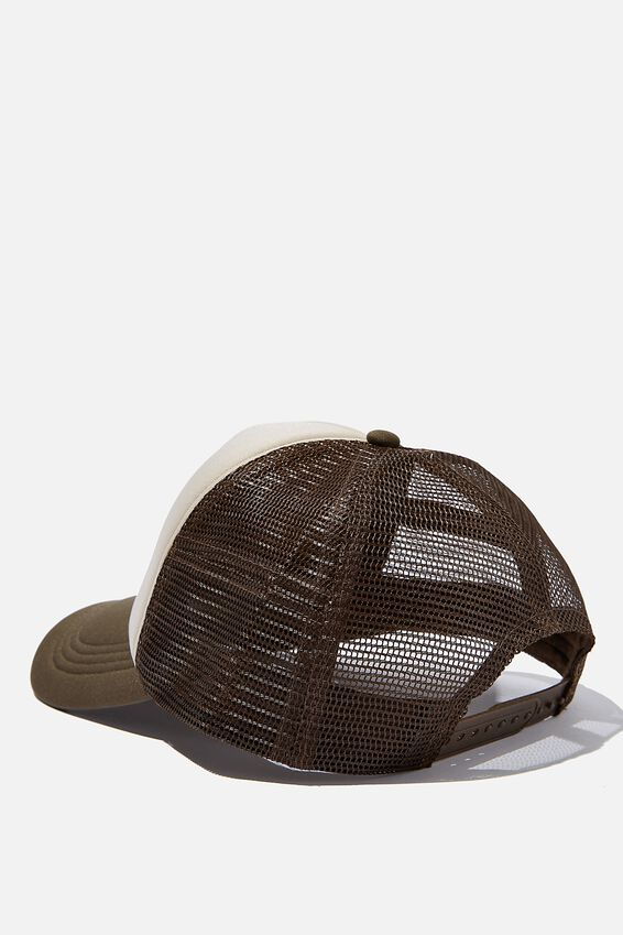 Wicked Print Trucker, SAND/BROWN/DETROIT IRONWORKS