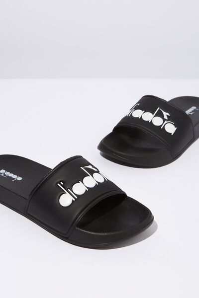 Diadora Slides, BLACK