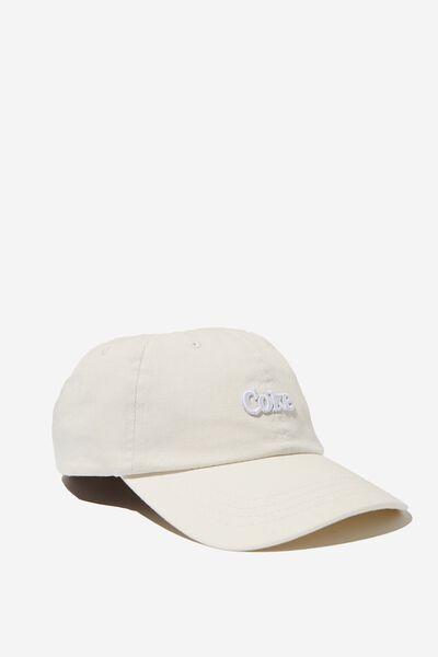 Strap Back Dad Hat, LC LIGHT GREY/COKE