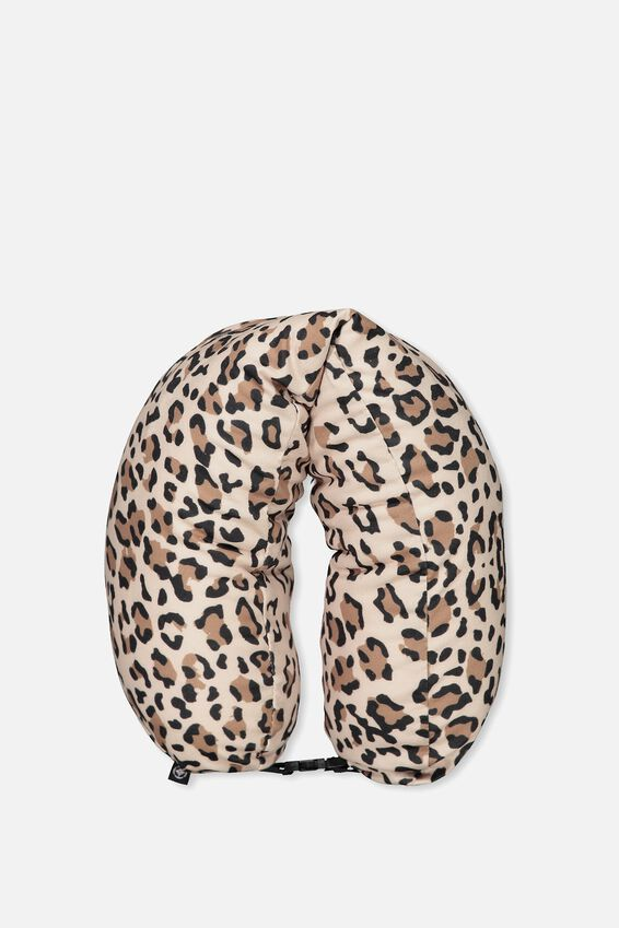 Neck Pillow With Hood, LEOPARD
