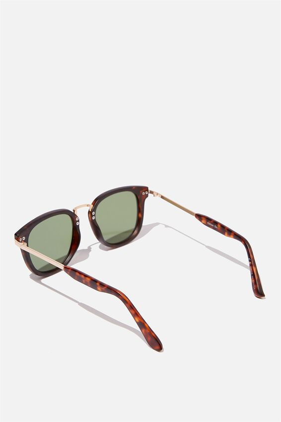 Highton Sunglasses, TORT/GOLD/GREEN