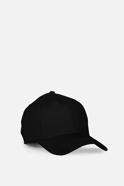 Outfield Fitted Cap, BLACK/BLANK