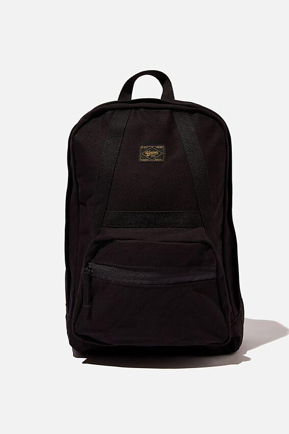 Brunswick Backpack, BLACK CANVAS