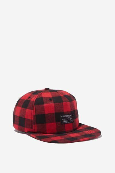 Art Snapback, RED BLACK CHECK/GOOD TIMES SUPPLY