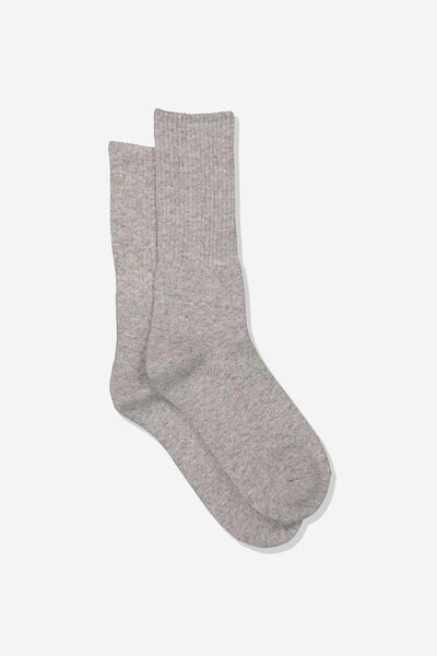 Single Pack Active Socks, GREY MARLE/RAINBOW FLECK