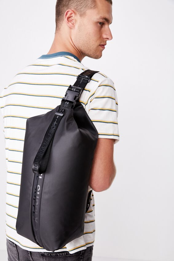 Oversized Sling Bag, BLACK