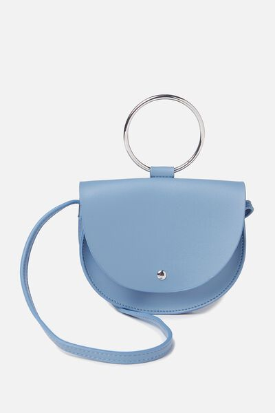 Ava Ring Handle Saddle Bag, PERSIAN BLUE