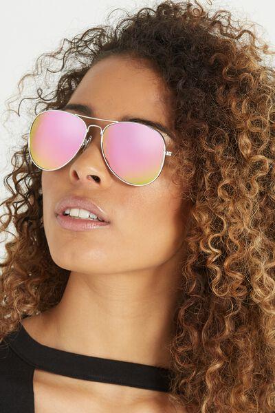 Belle Sunglasses, SILVER/PURPLE