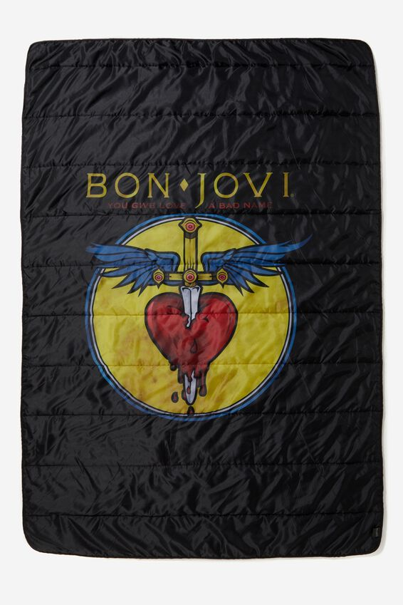 Quilted Travel Blanket, LCN BON JOVI