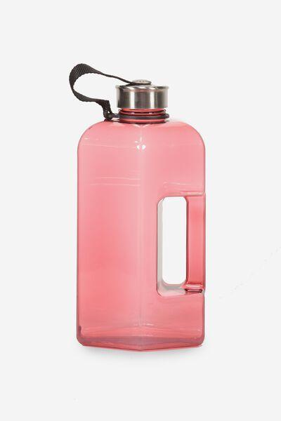 Dumbbell Drink Bottle, CLEAR PINK