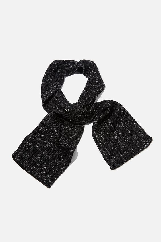 Chill Out Scarf, BLACK/GREY FLECK