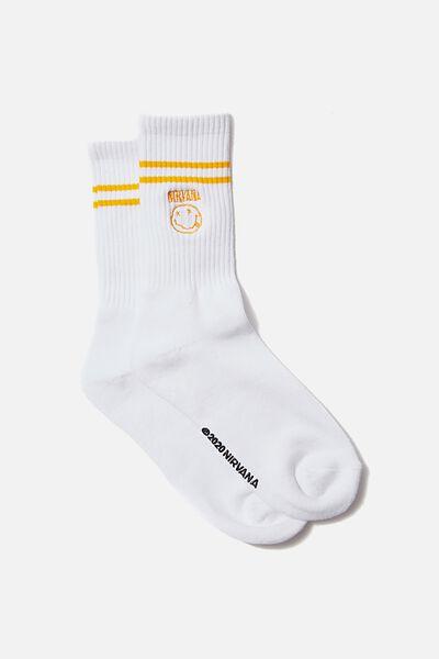 Single Pack Active Socks, LCN LIV WHITE/BLACK/NIRVANA