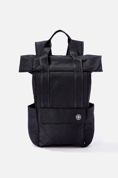 Escape Roll Top Backpack, BLACK