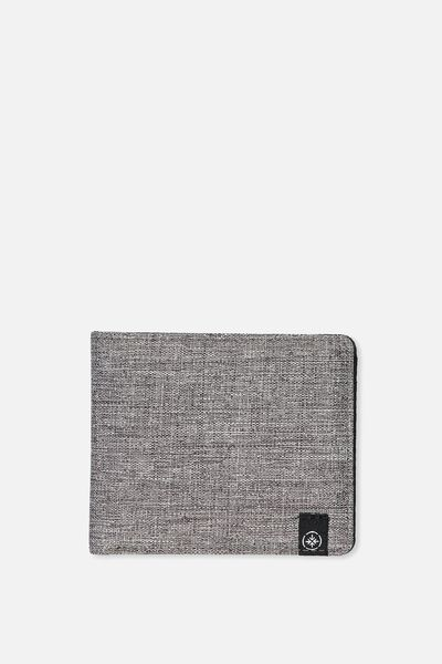 Mens Flip Wallet, GREY CROSSHATCH