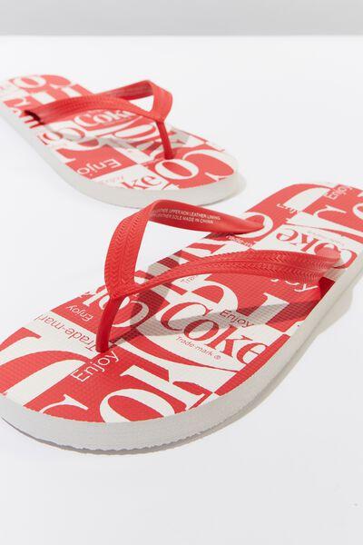 Bondi Flip Flop, LC RED/CHECKERBOARD COKE