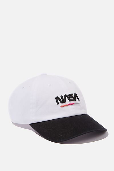 Special Edition Dad Hat, LCN NAS WHITE/BLACK NASA
