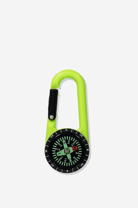 Bag Charm, COMPASS/LIME