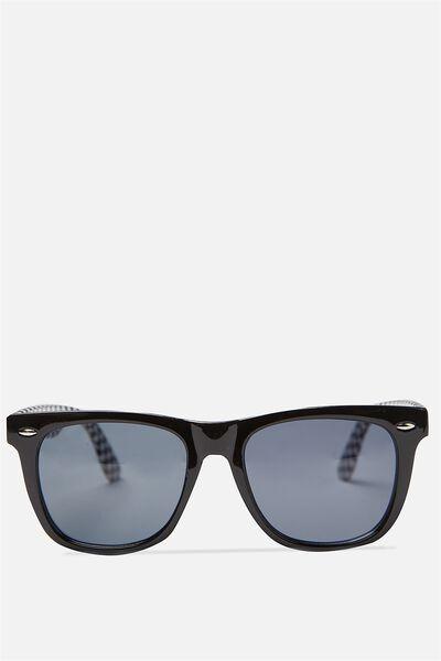 Bueller Sunnies, BLACK CHECK/SMK BLK