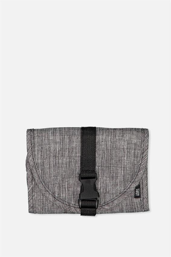 Compact Wash Bag, GREY CROSSHATCH