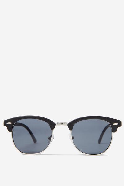 Smooth Operator Sunnies, BLACK/SILVER