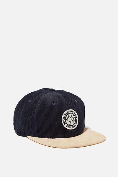 6 Panel Hat, NAVY/SAND CORDUROY/DENALI