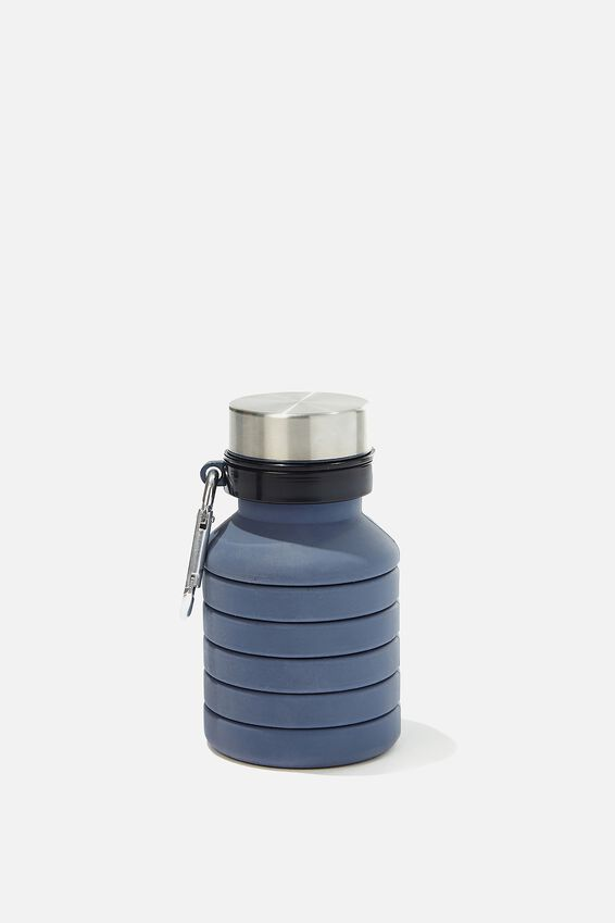Collapsible Drink Bottle, TRUE NAVY