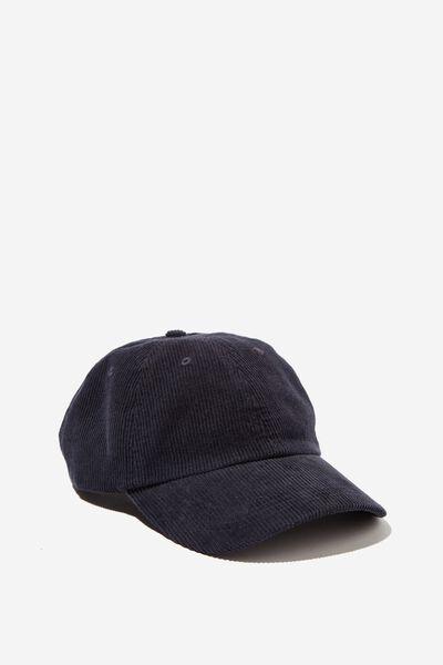 Strap Back Dad Hat, NAVY CORDUROY