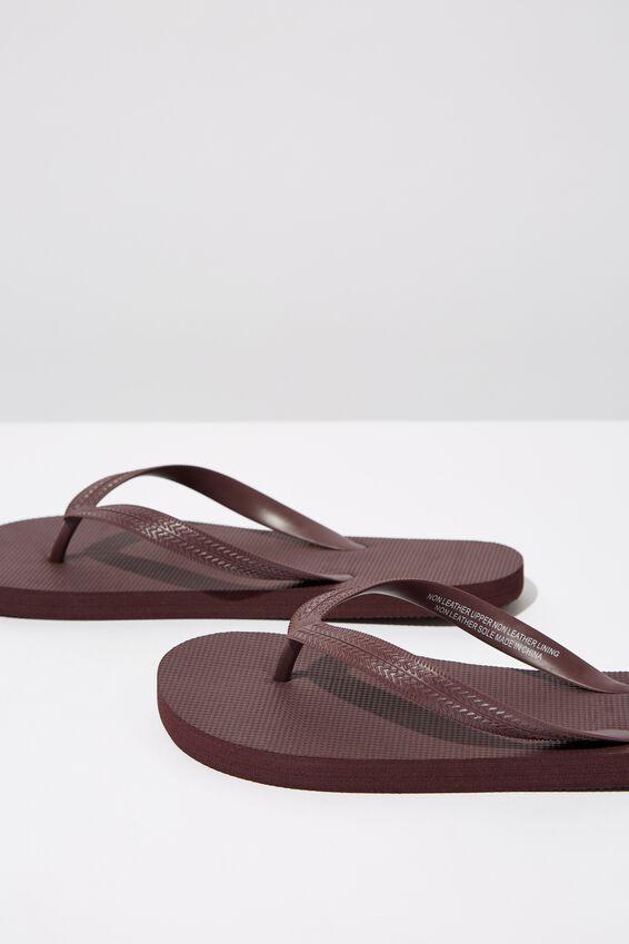 Bondi Flip Flop, BURGUNDY