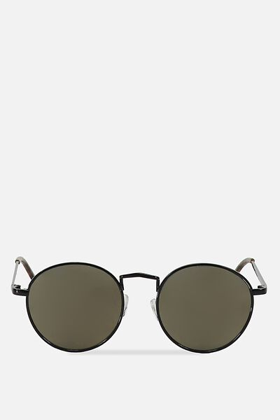 Columbus Sunnies, BLACK/GREEN GOLD