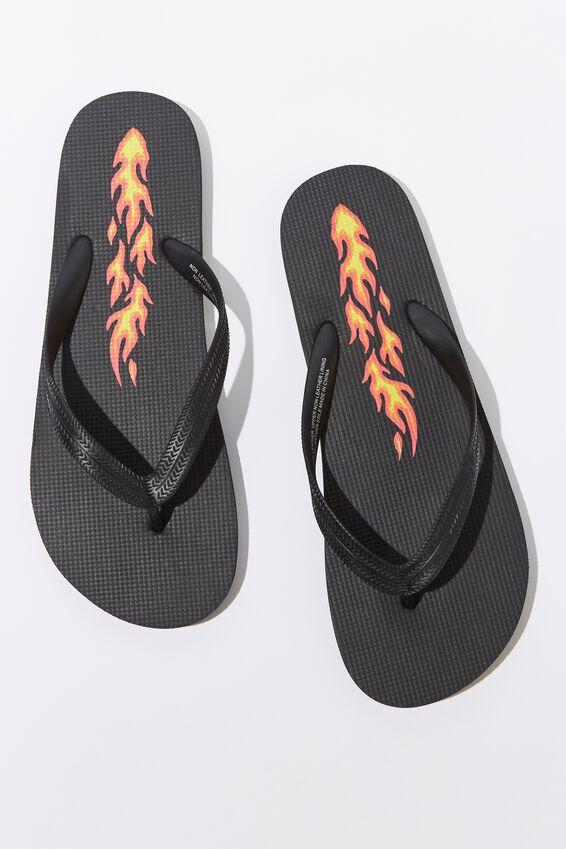 Bondi Flip Flop, BLACK/FLAME