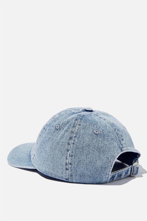 Special Edition Dad Hat, LCN MT WASHED BLUE DENIM/BLACK/THE RAMONES