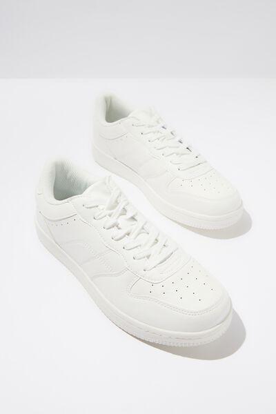 Mannequin Hayward Clean Sneaker, WHITE/WHITE
