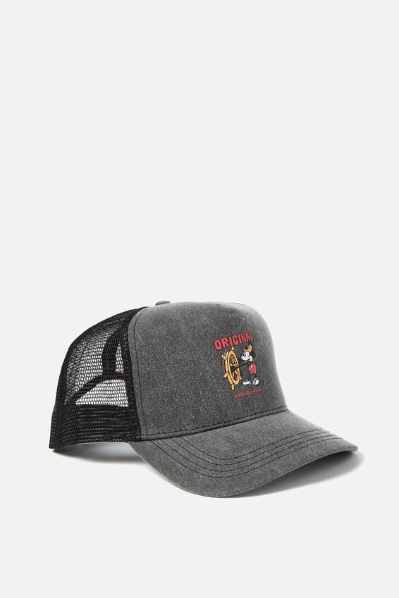 Mickey Trucker Hat, WASHED BLACK/ORIGINAL