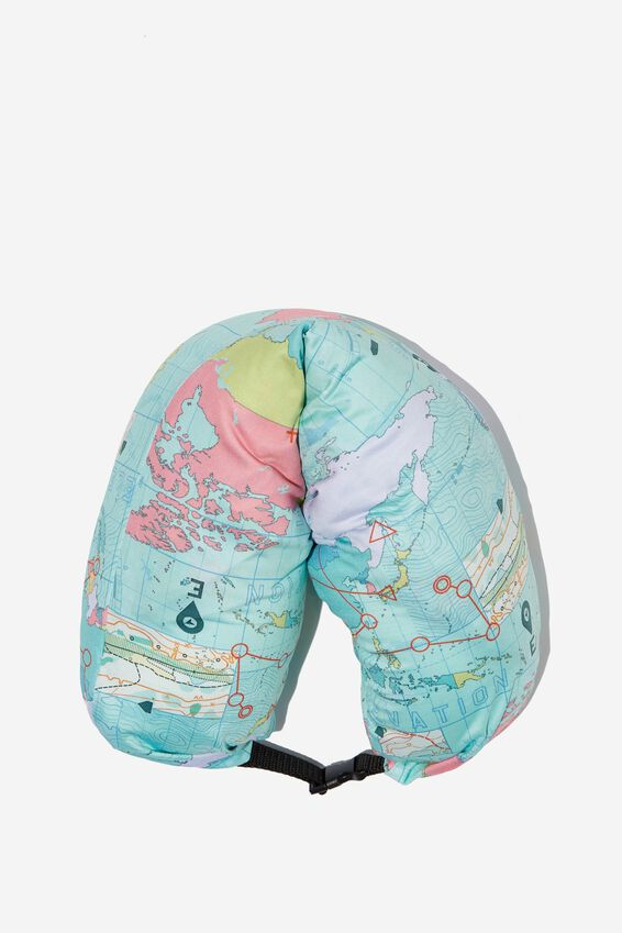 Neck Pillow With Hood, WORLD MAP